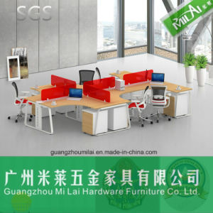Popular Metal Leg Office Desk with Moving Cabinet for 6 People pictures & photos