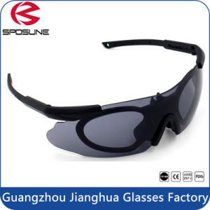 Revision Rx Carrier Tactical Glasses Shatterproof UV Rated with Adjustable Temple pictures & photos