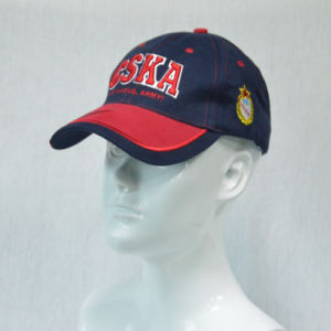 Custom 3D Embroidery Navy Cotton Twill Baseball Cap pictures & photos