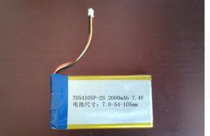 7.4V Lithium Battery Pack 7054105-2000 mAh Polymer Lithium Battery Portable DVD Cl pictures & photos