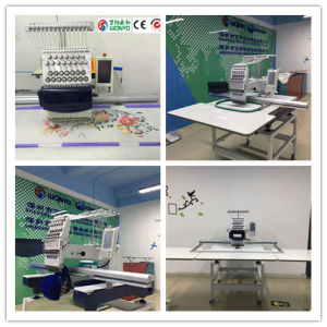 Wonyo Single Head 9/12/15 Colors Industrial Embroidery Machine for Cap, T-Shirt and Flat Embroidery with Big Area Embroidery pictures & photos