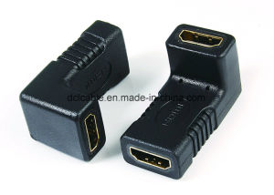 90 Degree HDMI Female to Female Adapter pictures & photos