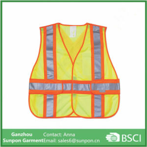 High-Visibility Yellow 2-Tone Reflective Construction Safety Vest pictures & photos