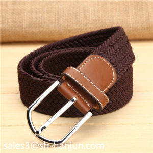 Fashion Casusal Mix Color Elastic Stretch Belt for Men