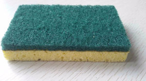 Scouring Pad Glued Sponge, Cellulose Sponge and Scouring Pad, Cleaning Products, pictures & photos