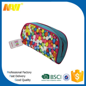 High Quality Full Colors Canvas Sublimation Cosmetic Bag pictures & photos