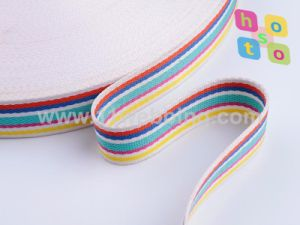 Colorful Striped Cotton Webbing for Bag or Garment Accessories pictures & photos