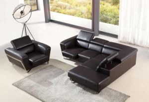 Large Corner Sofa for Modern Sofa Leather Sectional L Shaped pictures & photos