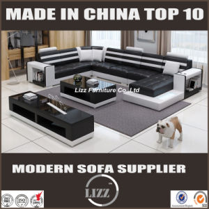 Modern Big Size U Shape Genuine Leather Sofa for Living Room (LZ-3316) pictures & photos