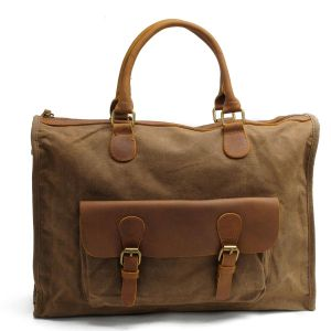Genuine Leather Washed Canvas Man Handbag (RS-2025F) pictures & photos