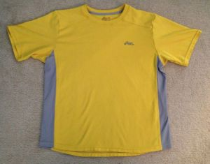 Running Yellow and Gray Medium T Shirt (A649)