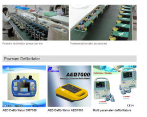 Hospital 7′ Color LCD Display Aed Automated External Defibrillator (D-2000A) pictures & photos