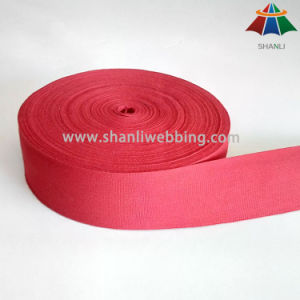 2 Inch Red Organic Red Cotton Tape Webbing pictures & photos