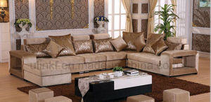 Modern Colorful Fabric Home Wooden Sofa Sets (HX-SL018) pictures & photos