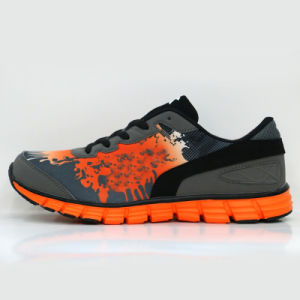 Top Lace-up Breathable Trend Cushioned Running Shoes Sneaker pictures & photos