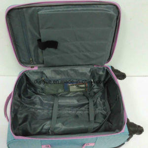 OEM Factory Custom Size Durable Ladies Washer Wrinkle Fabric Trolley Case Bag, Casual Travel Luggage Suitcase with Wheels pictures & photos