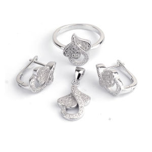 925 Silver Jewelry CZ Micro Setting Wholesales pictures & photos
