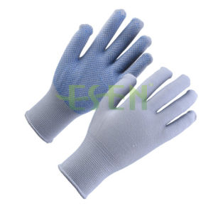 Polyester Knitted PVC Dotted Glove (Single side) , Workman Safety Gloves pictures & photos