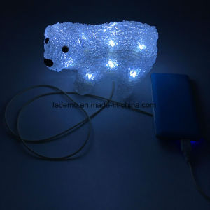 LED Acrylic Decorative USB Bear Light pictures & photos
