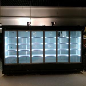6-Door Supermarkets/Stores Merchandising Refrigerators with Walk in Cold Room pictures & photos
