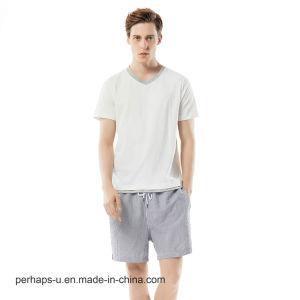 Wholesale T-Shirt and Shorts Men Leisure Cotton Pajamas pictures & photos