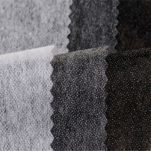 Garments Double Dotted Polyester Nonwoven Fusible Interlining for Suits pictures & photos