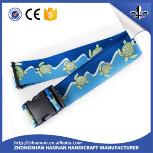 Travel Suitcase Customized Printed Strap Polyester Luggage Belt pictures & photos