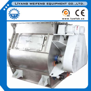 0.5-20ton/Batch Sshj Stainless Steel Double Shaft Paddle Feed Mixer Factory pictures & photos