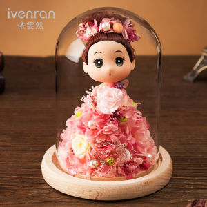 Fashion 100% Natural Real Rose Flower in Glass for Birthday Gift pictures & photos