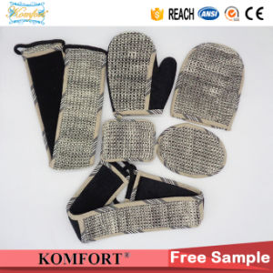 JM406E Bamboo Charcoal Sisal Bath Sponge Belt Strap Body Brush pictures & photos