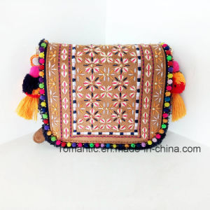 Trendy Lady PU Embroider Handbags Promotional Women Bag (NMDK-042201) pictures & photos