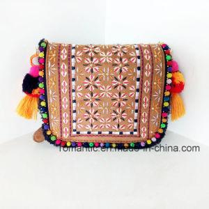 Trendy Lady PU Embroider Handbags Promotional Women Bag (NMDK-042201)