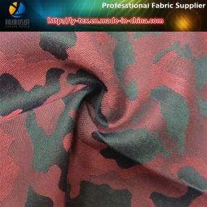 Polyester/Cotton Yarn Dyed Disruptive Pattern Jacquard Fabric pictures & photos