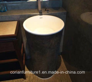 Solid Surface Hotel Custom Sized Free Stand Wash Basin pictures & photos