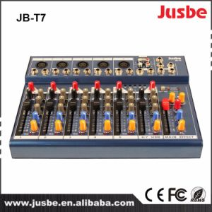 Jb-T7 7 Channel DJ Music Mixer Audio Video Mixer with USB pictures & photos