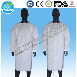 Disposable Nonwoven Lightweight Blue Medical Isolation Gown pictures & photos