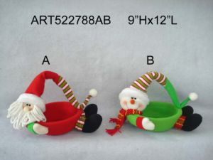 "5""Hx54""L Santa Snowman Reindeer+Greeting Letter Garland-3asst-Christmas Decoration pictures & photos"