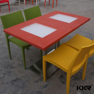 Acrylic Solid Surface Dining Table Top for Restaurant Furniture pictures & photos
