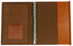 Hardcover Custom PU Leather Notebook with Logo Printing pictures & photos