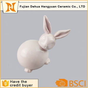 Easter Bunny Pink Glazed Ceramic Rabbit Figurine pictures & photos