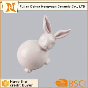 Easter Bunny Pink Glazed Ceramic Rabbit Figurine pictures & photos