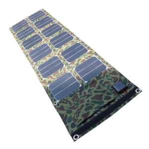 High Effective 40W Foldable Solar Power Bank Charger with 5V 18V Output pictures & photos