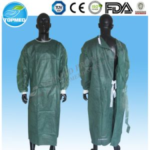 Medical Eo-Sterilized or Not Isolation Gown/Surgical Gown Free Size pictures & photos