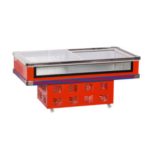 Low Consumption Sliding Glass Door Front Clear Seafood Freezer for Supermarket pictures & photos