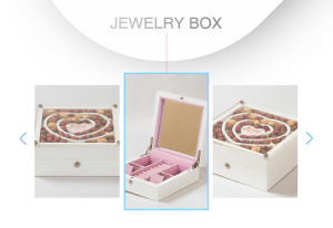 Simple Elegant Varnished MDF Decorative Jewelry Gift Packaging Box pictures & photos