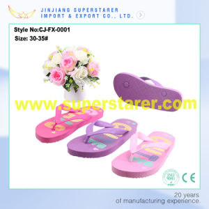 Beach Outdoor Kids Soft PE Flip Flop Slipper pictures & photos