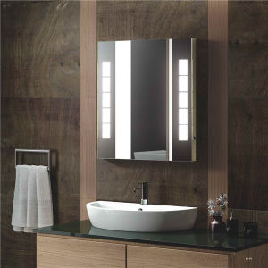 Hotel Bathroom Fogless Hard Wired LED Lighted Wall Mount Mirror pictures & photos