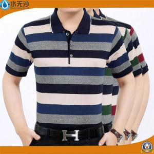 Factory 2017 Men Stripe Polo Shirts Cotton Pique Polo Shirts