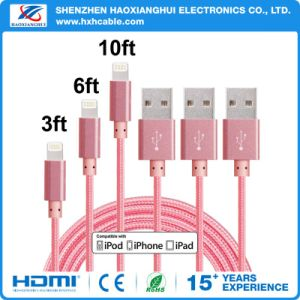 Factory Wholesale Durable Metal Large Current Cable for iPhone Android pictures & photos