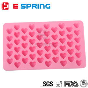 Mini 55 Cavities Heart Shape Chocolate Mold Rectangular Silicone Cake Mould Baking Cake Decorating pictures & photos